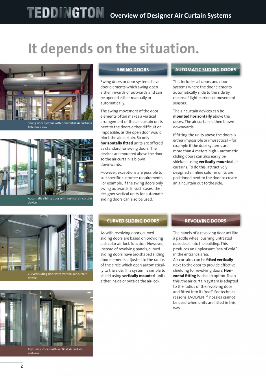 Pagina 2 - Perdea de aer arhitecturala TEDDINGTON DELTA Fisa tehnica Engleza wards.  The air curtain...