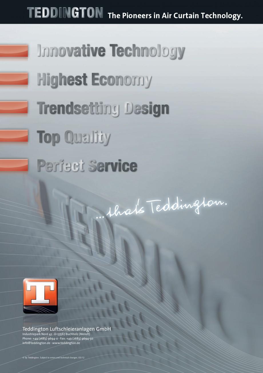Pagina 12 - Perdea de aer arhitecturala TEDDINGTON ELLIPSE Fisa tehnica Engleza ts for Horizontal / ...