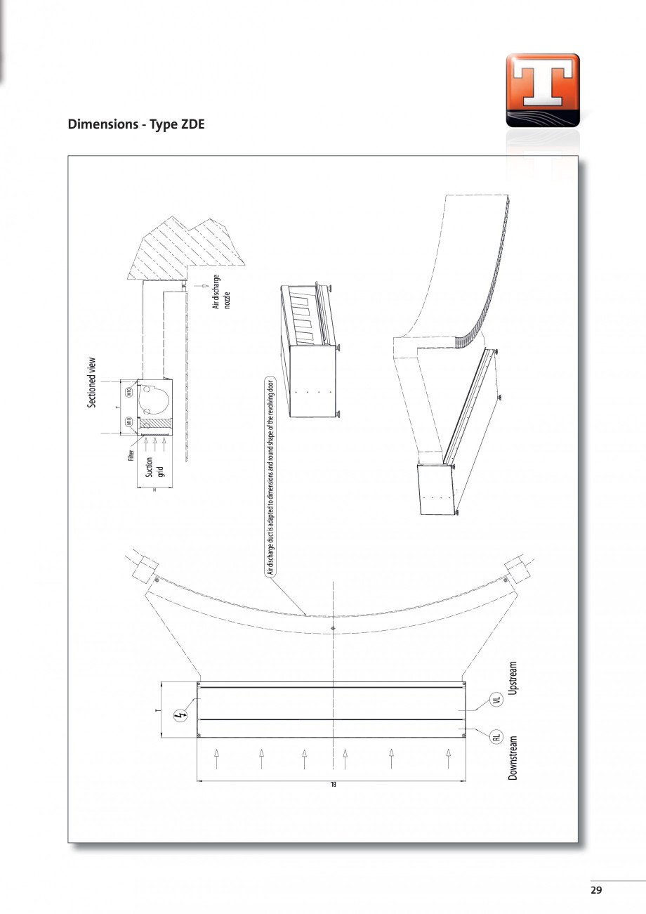 Pagina 7 - Perdea de aer arhitecturala pentru usi rotative TEDDINGTON RONDO Fisa tehnica Engleza  ...