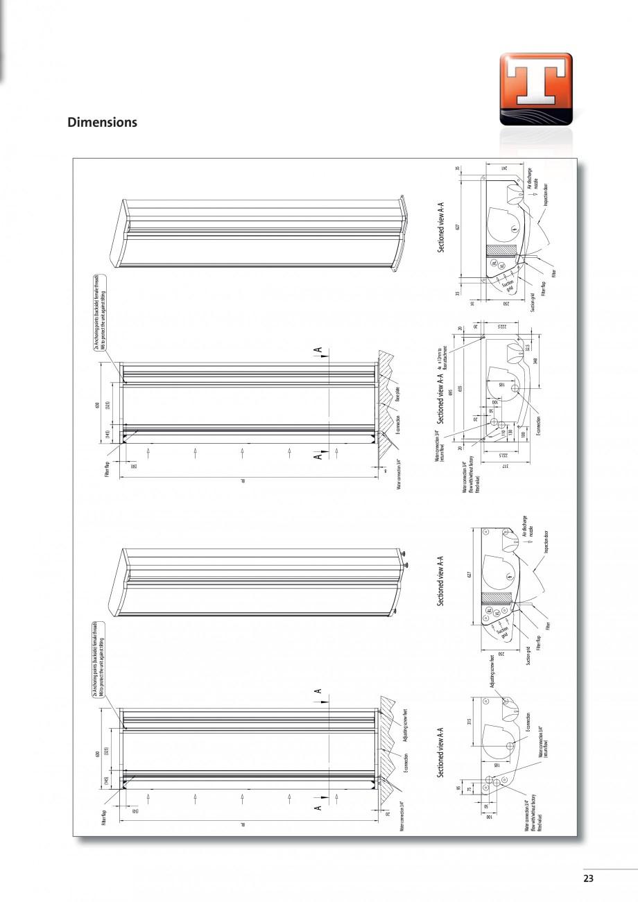 Pagina 5 - Perdea de aer arhitecturala TEDDINGTON SINTRA Fisa tehnica Engleza  5.14  6.00  [kg]  70 ...