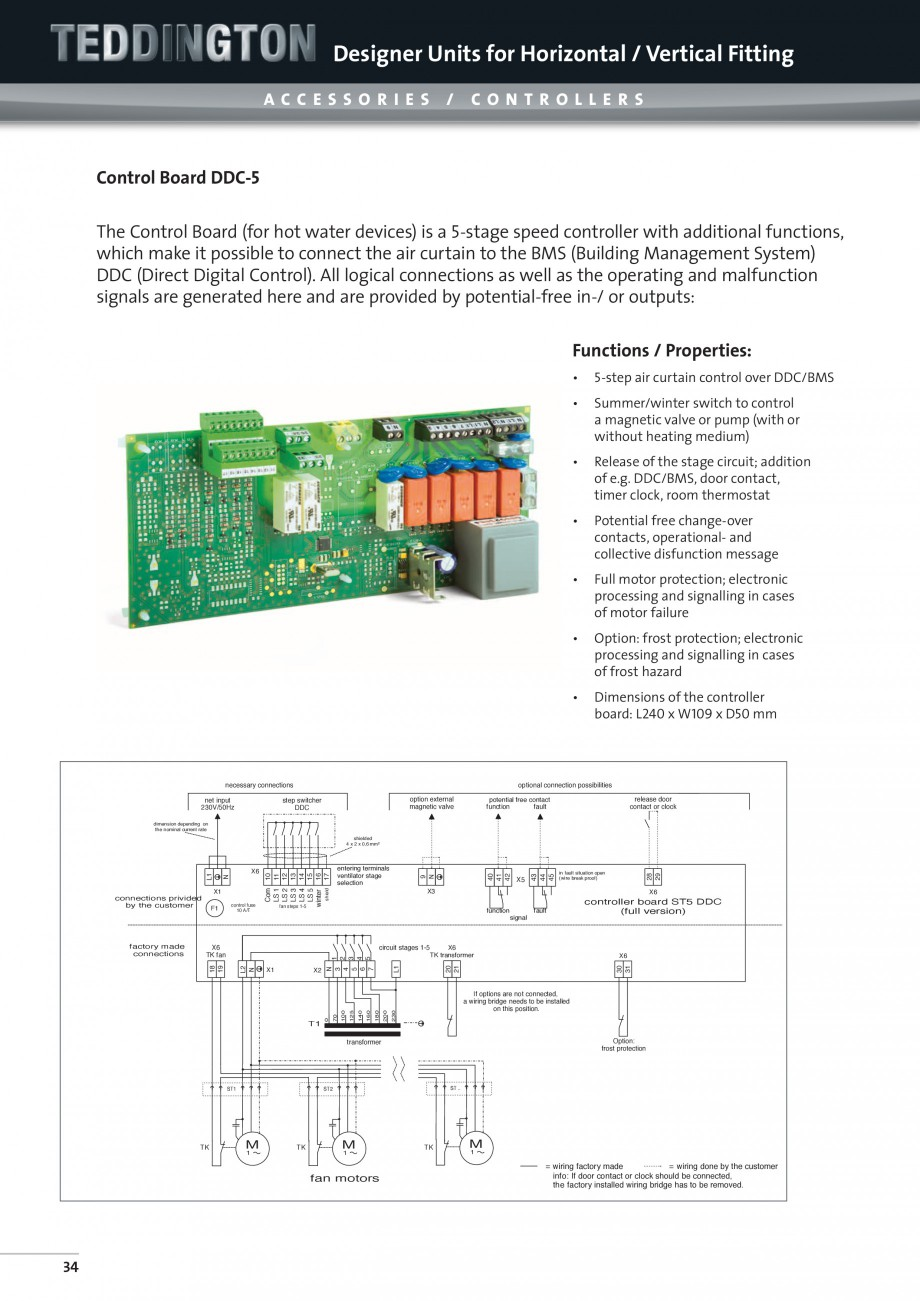 Pagina 10 - Perdea de aer arhitecturala TEDDINGTON TOPAS Fisa tehnica Engleza rge sensor, completely...