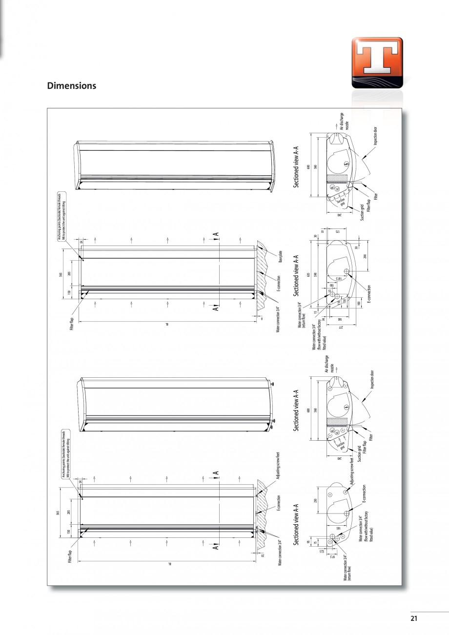 Pagina 5 - Perdea de aer arhitecturala TEDDINGTON TOPAS Fisa tehnica Engleza 6.00  [kg]  70  80  110...