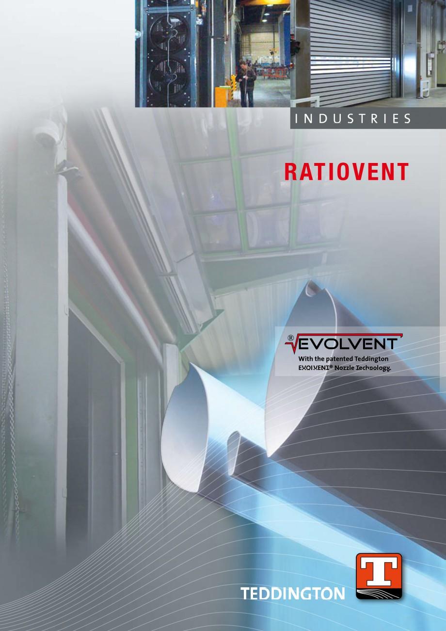 Pagina 1 - Perdea de aer industriala TEDDINGTON RATIOVENT Fisa tehnica Engleza INDUSTRIES  RATIO...