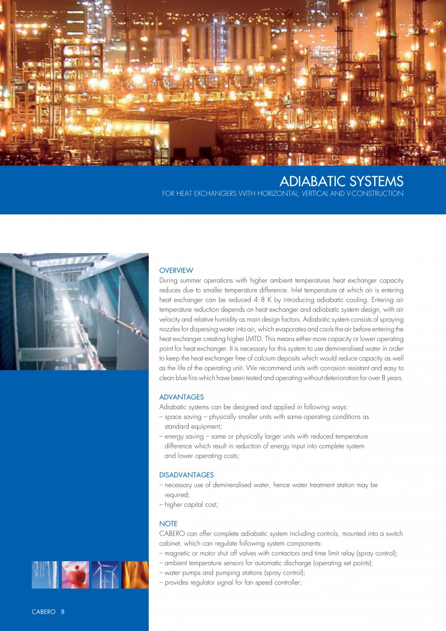 Pagina 1 - Turnuri de racire adiabatice CABERO Fisa tehnica Engleza ADIABATIC SYSTEMS FOR HEAT...
