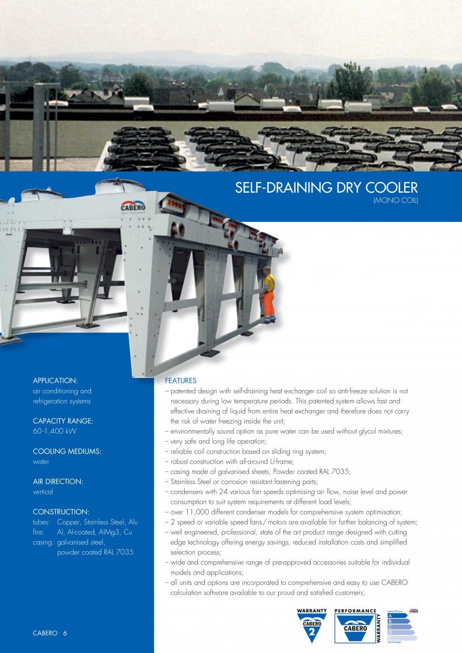 Pagina 1 - Turnuri de racire cu autodrenaj CABERO Autodrenare Fisa tehnica Engleza SELF-DRAI...