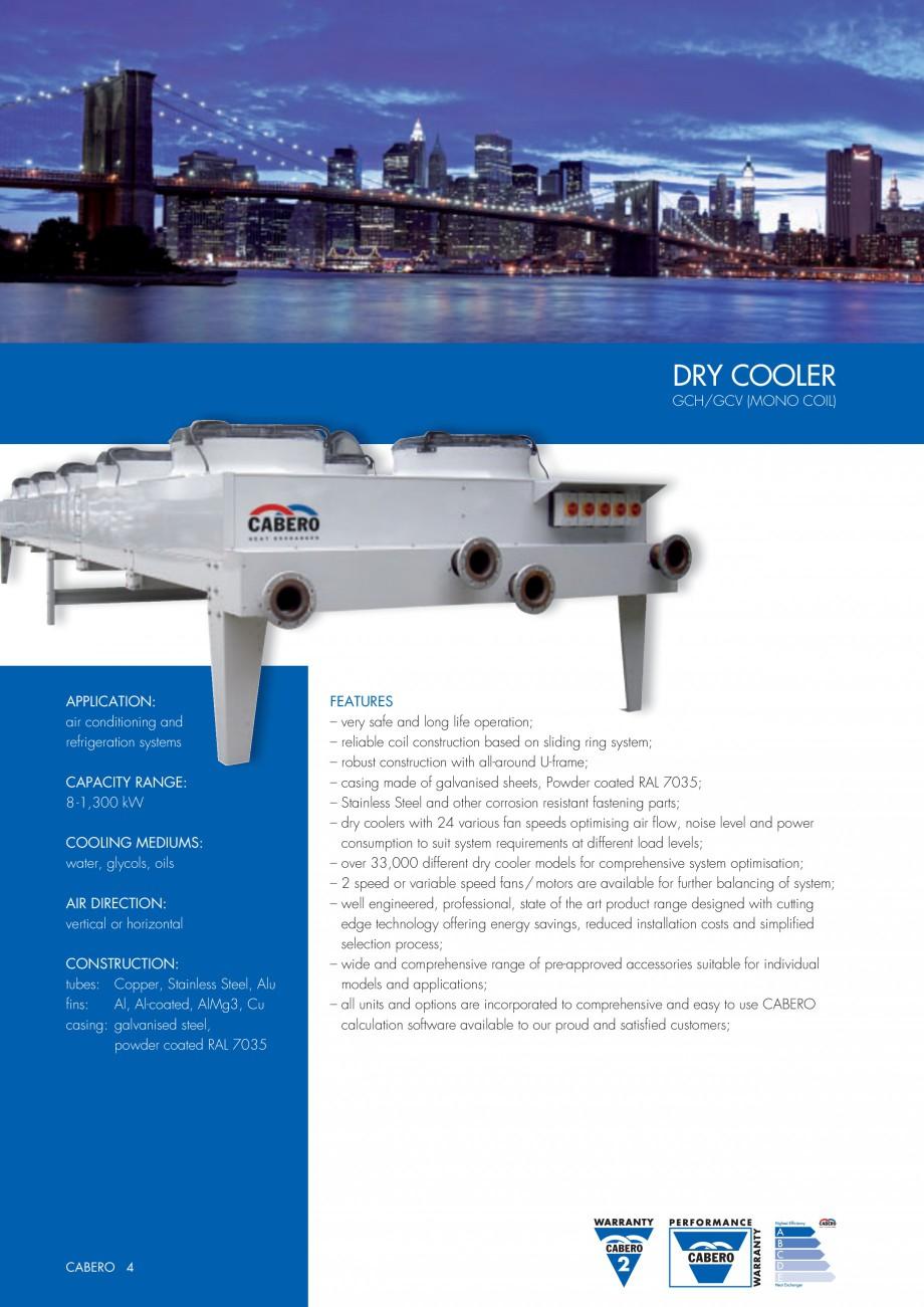 Pagina 1 - Turnuri de racire cu circuit inchis CABERO GCH/GCV Fisa tehnica Engleza DRY COOLER...