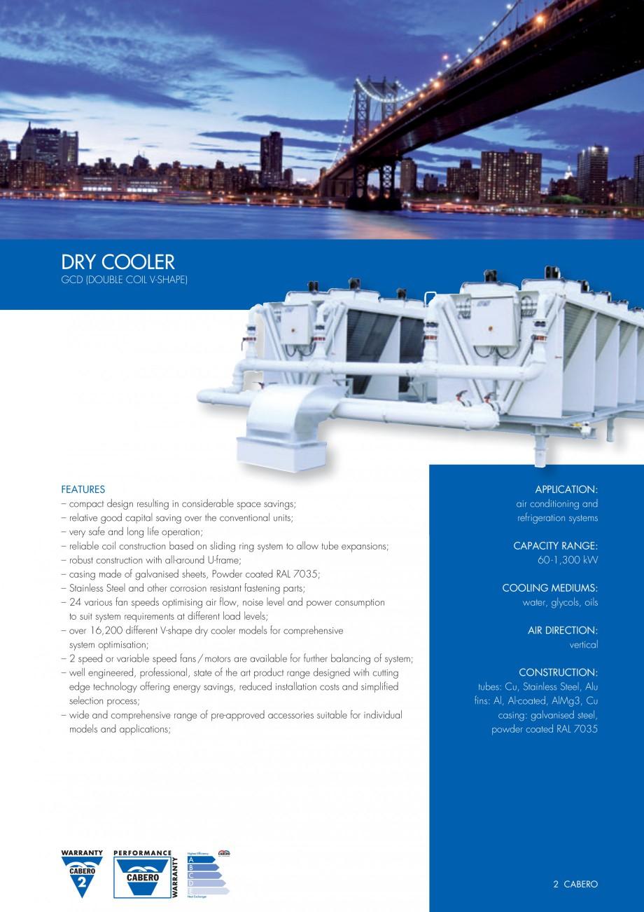 Pagina 2 - Turnuri de racire cu circuit inchis CABERO GCD Fisa tehnica Engleza lified selection...