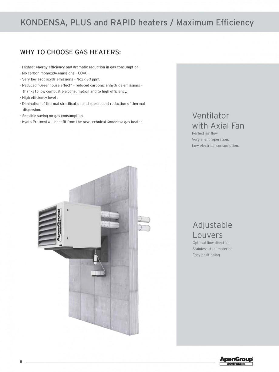 Pagina 1 - Aeroterma pe gaz in condensare APEN KONDENSA Fisa tehnica Engleza