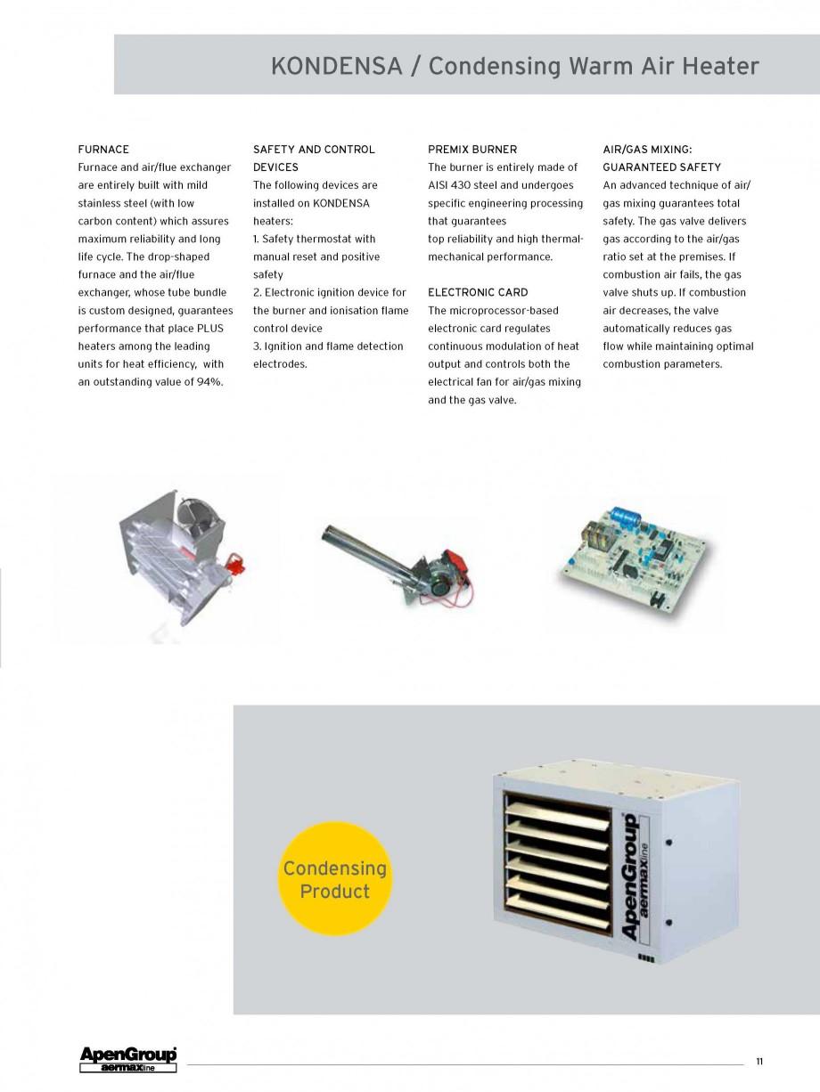 Pagina 4 - Aeroterma pe gaz in condensare APEN KONDENSA Fisa tehnica Engleza