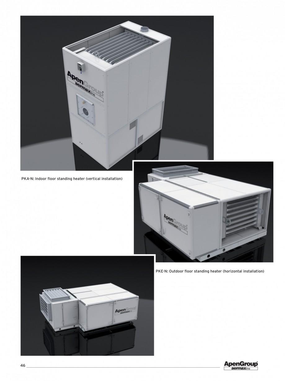 Pagina 1 - Generator de aer cald cabinet APEN PK Fisa tehnica Engleza PKA-N: Indoor floor standing ...