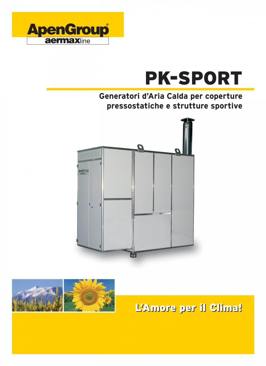 Pagina 1 - Generatoare de aer cald cabinet APEN PK-SPORT Fisa tehnica Engleza ®  PK-SPORT...