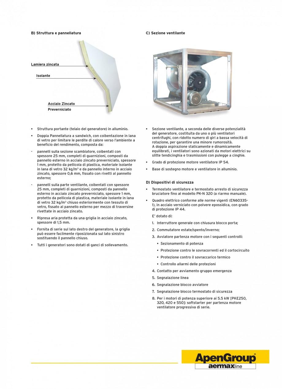 Pagina 3 - Generatoare de aer cald cabinet APEN PK-SPORT Fisa tehnica Engleza saggio aria, velocità...