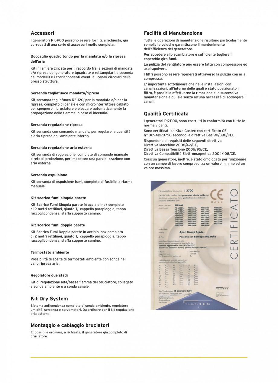 Pagina 4 - Generatoare de aer cald cabinet APEN PK-SPORT Fisa tehnica Engleza ni, composti da...