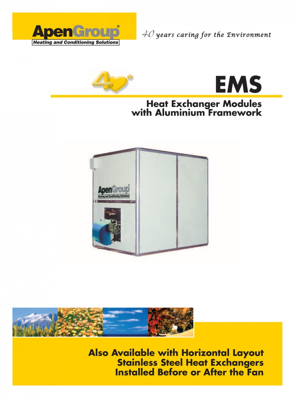 Pagina 1 - Generatoare de aer cald incorporabile APEN EMS Fisa tehnica Engleza industr_ing 2007.qxd ...