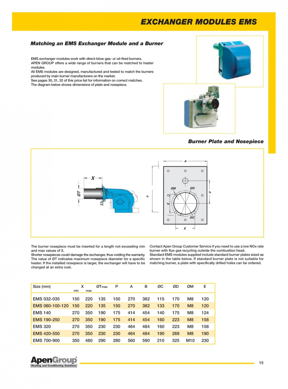 Pagina 7 - Generatoare de aer cald incorporabile APEN EMS Fisa tehnica Engleza ed capacity required ...