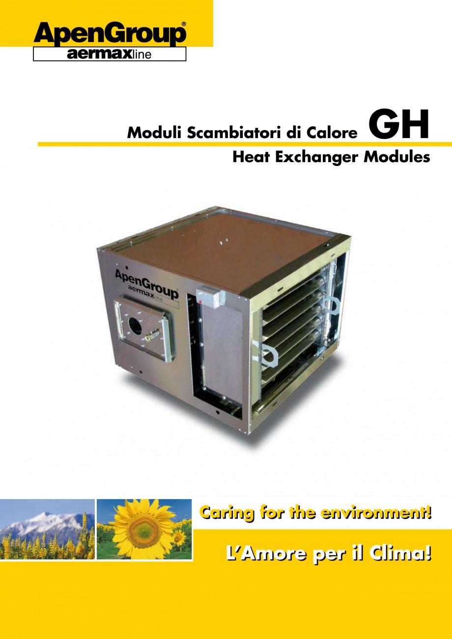 Pagina 1 - Generatoare de aer cald incorporabile APEN GH Fisa tehnica Engleza Moduli Scambiatori di ...