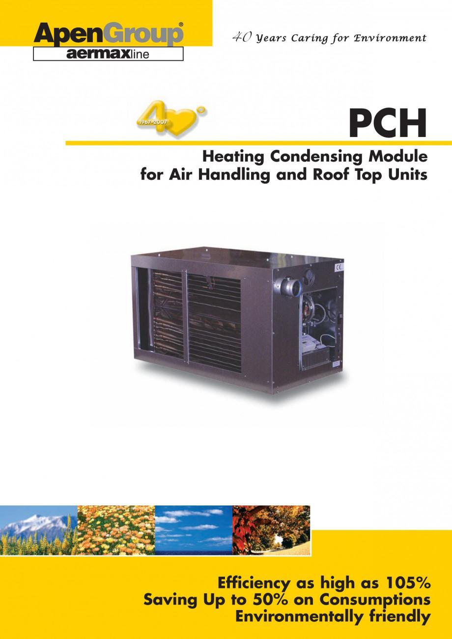 Pagina 1 - Generatoare de aer cald incorporabile APEN PCH Fisa tehnica Engleza 40 Y e a r s C a r i ...