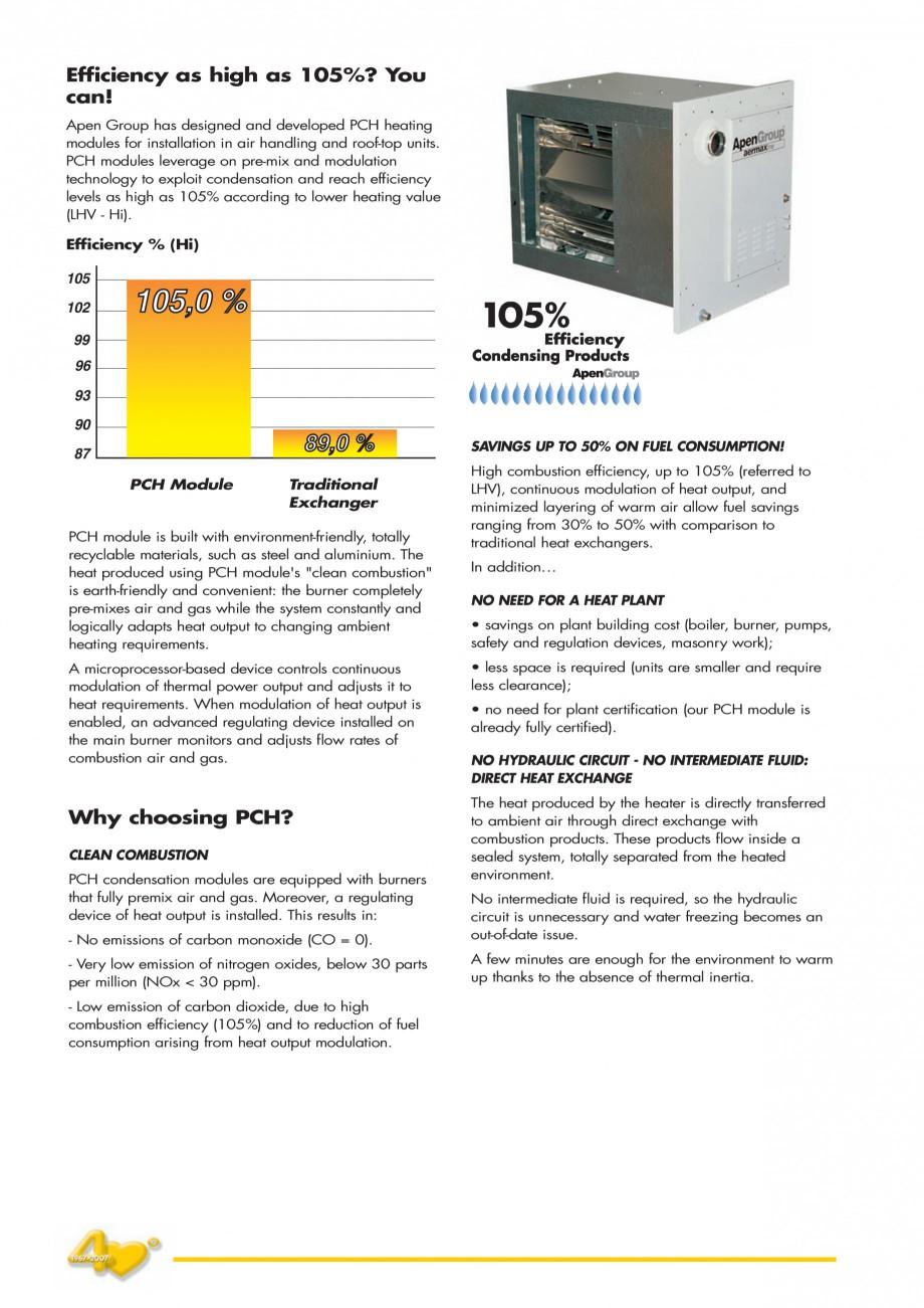 Pagina 2 - Generatoare de aer cald incorporabile APEN PCH Fisa tehnica Engleza evice controls...