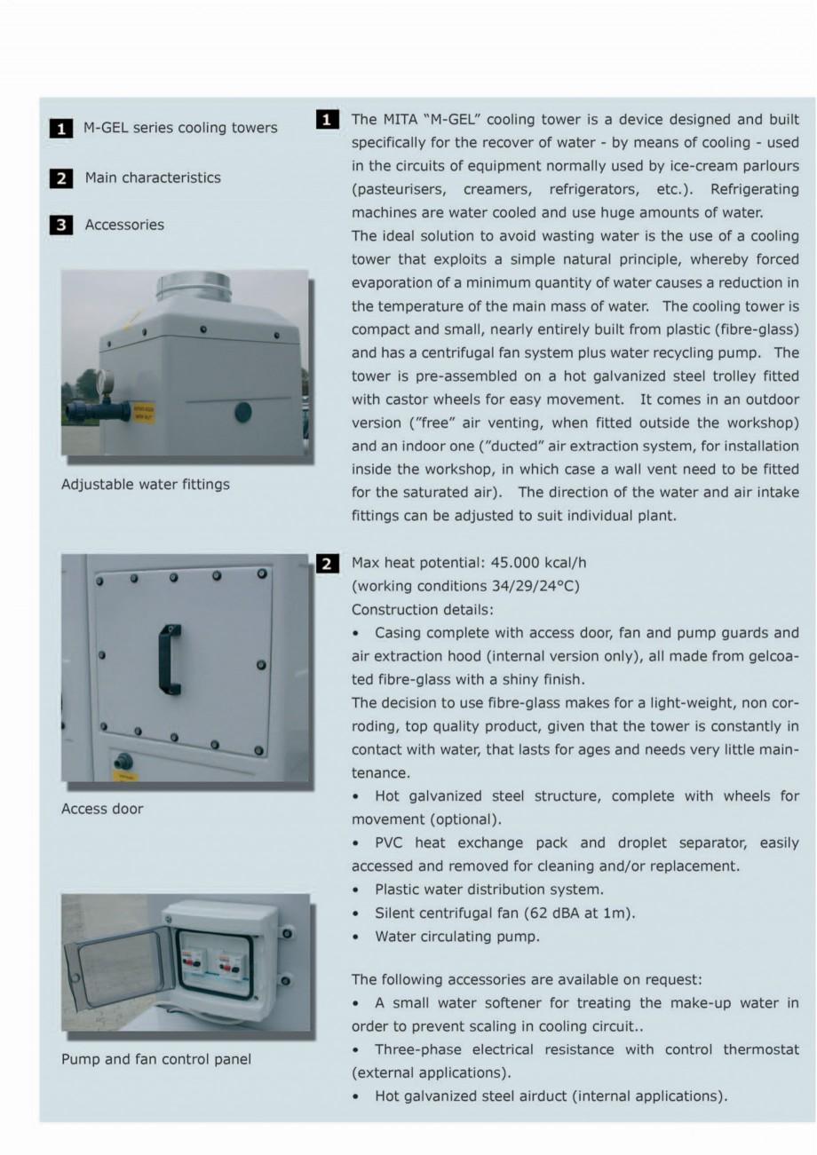 Pagina 2 - Turnuri de racire cu circuit deschis MITA M-GEL Fisa tehnica Engleza
