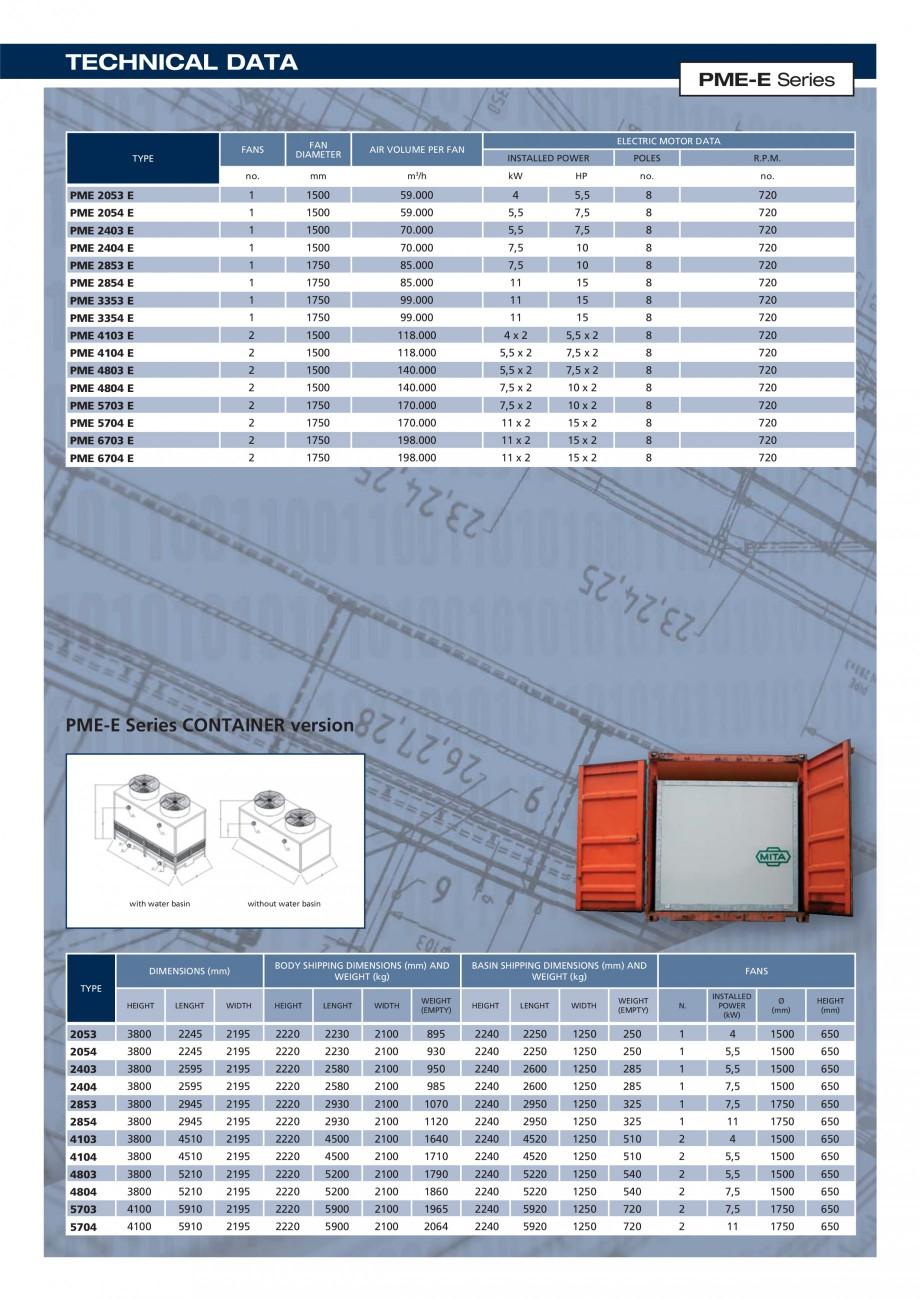 Pagina 4 - Turnuri de racire cu circuit deschis MITA PME-E Fisa tehnica Engleza , reinforced with...