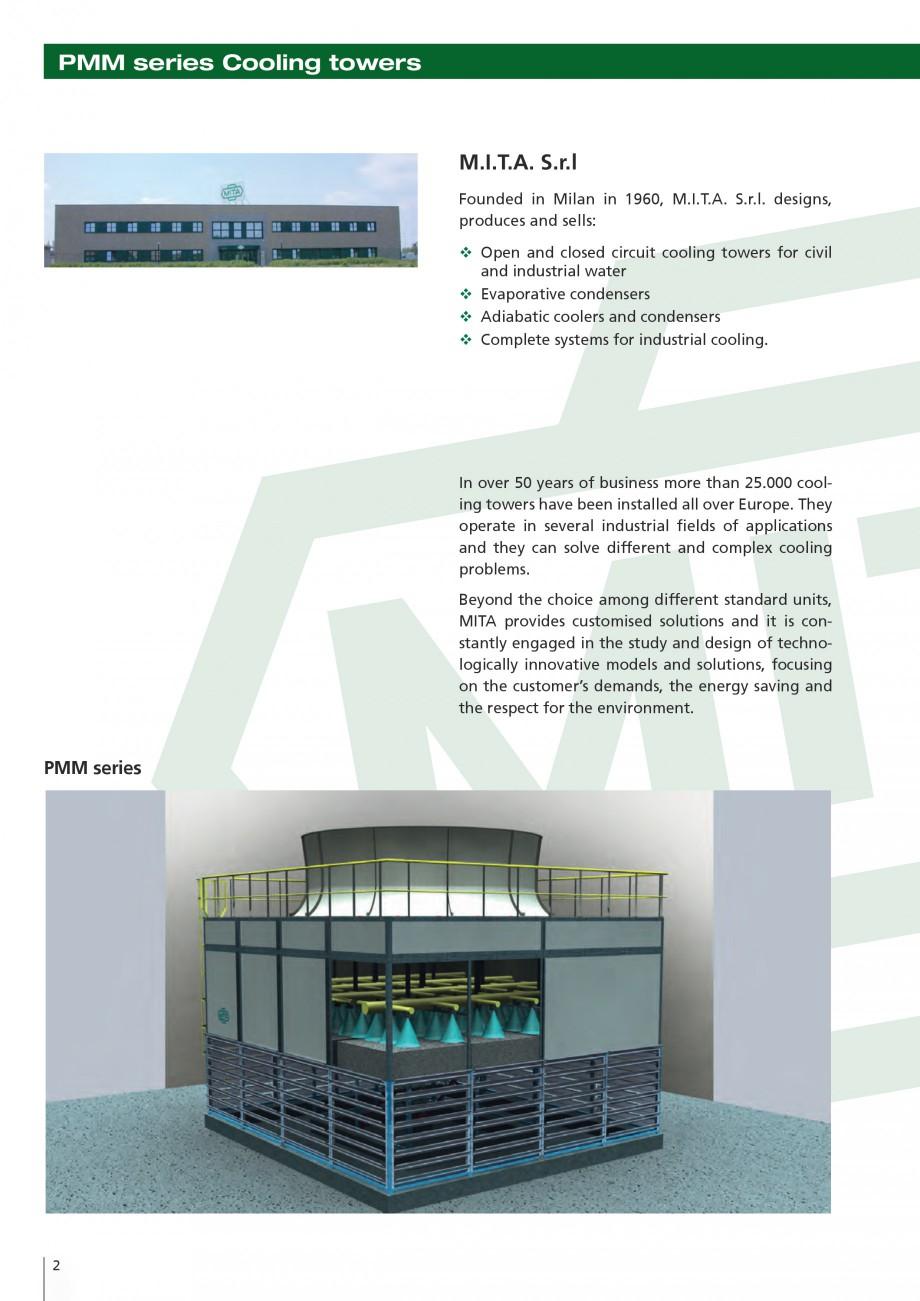 Pagina 2 - Turnuri de racire cu circuit deschis MITA PMM Fisa tehnica Engleza ules � Capacity...