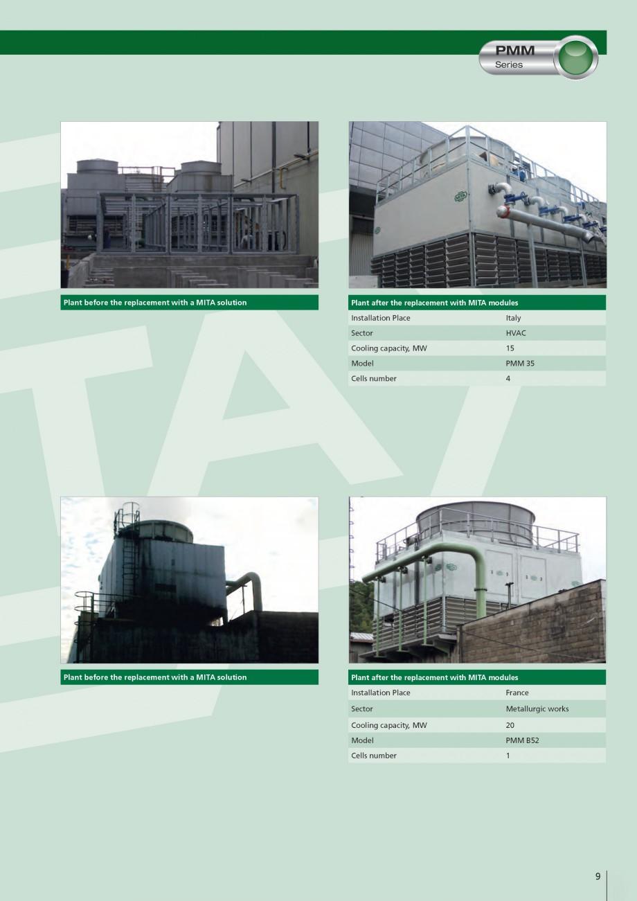 Pagina 9 - Turnuri de racire cu circuit deschis MITA PMM Fisa tehnica Engleza  systems �...