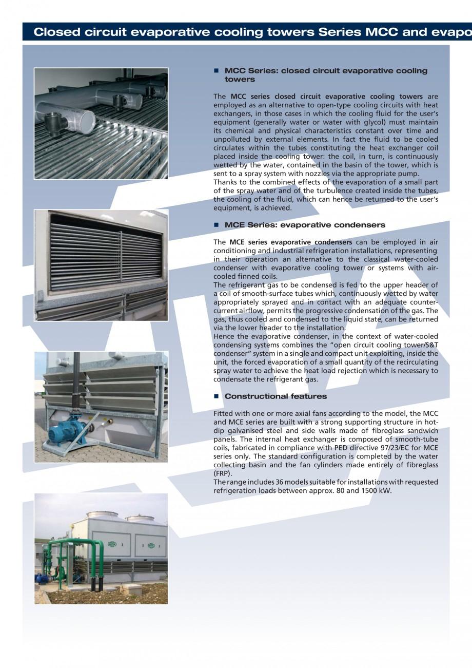 Pagina 2 - Turnuri de racire cu circuit inchis MITA MCC-MCE Fisa tehnica Engleza  the fluid, which ...