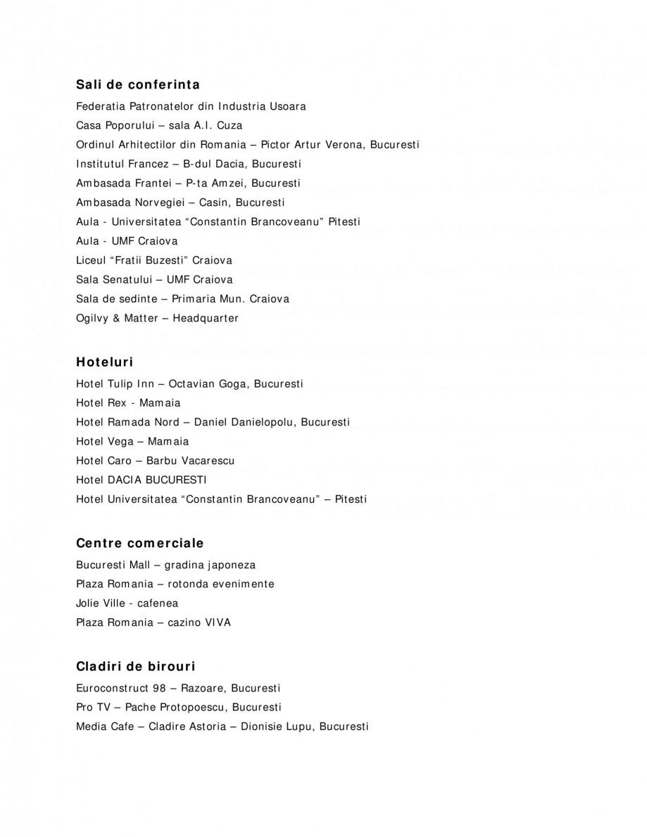 Pagina 1 - Sisteme audio  Lucrari, proiecte Romana Sali de conferinta Federatia Patronatelor din...