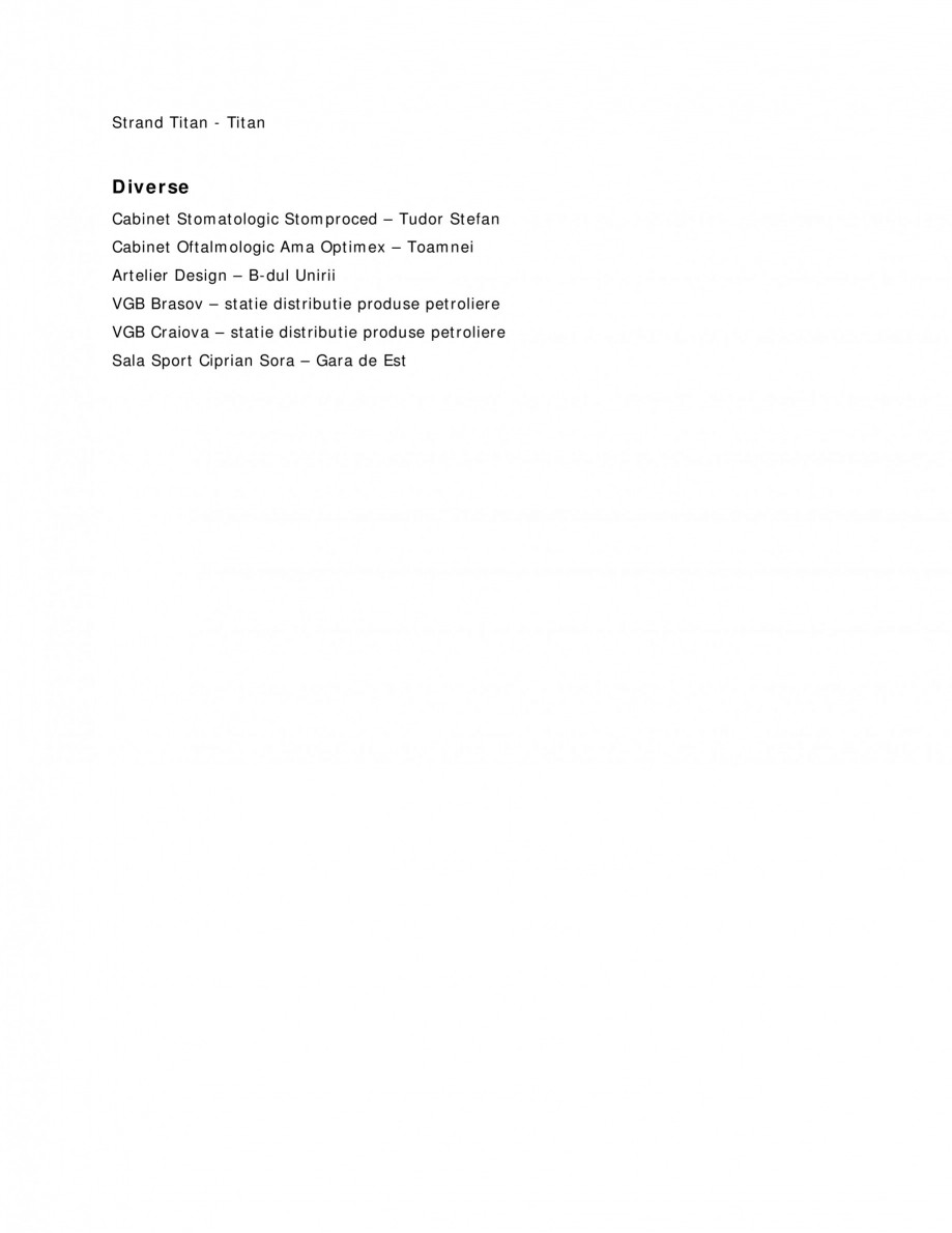 Pagina 5 - Sisteme audio  Lucrari, proiecte Romana creere Sala Dans Crangasi – Crangasi, Bucuresti...