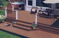Deck-uri compozite pentru terase, platforme si amenajari exterioare Deck-urile compozite Decolandia sunt rezistente la umezeala si la contactul cu apa, nu putrezesc, nu crapa la expunerea la soare si nu este atacat de insecte.