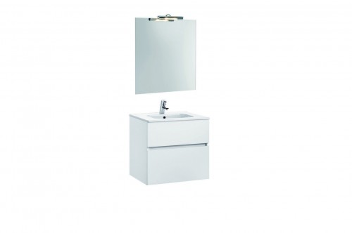 Mobilier Jade 60 cm alb cu lavoar Smile si oglinda cu spot GALA - Poza 4
