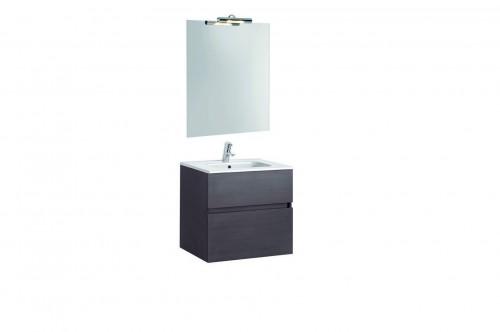 Mobilier Jade 60 cm negru cu lavoar Smile si oglinda cu spot GALA - Poza 6