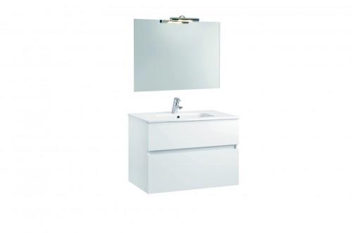 Mobilier Jade 80 cm alb cu lavoar Smile si oglinda cu spot GALA - Poza 8