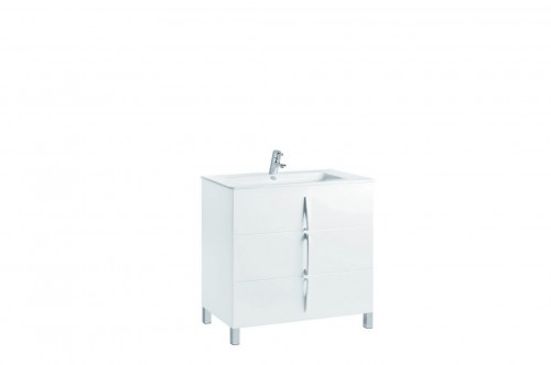 Mobilier alb 80 cm CUARZO 3C cu lavoar Emma GALA - Poza 1