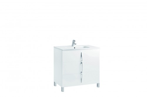 Mobilier alb 80 cm CUARZO 3C cu lavoar Smile GALA - Poza 3