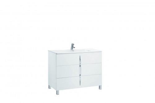 Mobilier alb 100 cm CUARZO 3C cu lavoar Emma GALA - Poza 5