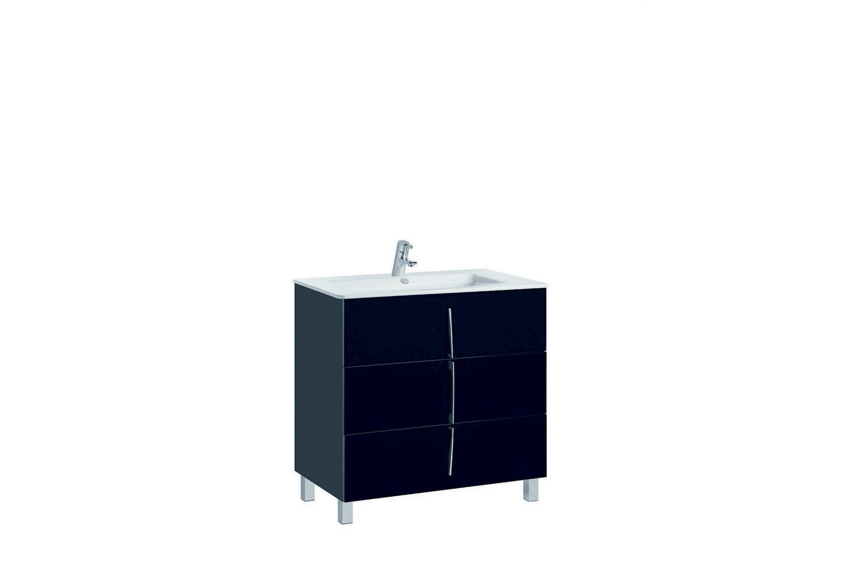 Mobilier negru 80 cm CUARZO 3C cu lavoar Emma GALA - Poza 9