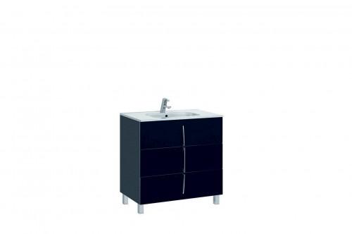 Mobilier negru 80 cm CUARZO 3C cu lavoar Smile GALA - Poza 11