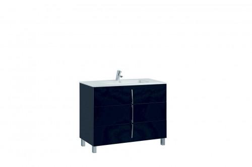 Mobilier negru 100 cm CUARZO 3C cu lavoar Emma GALA - Poza 13