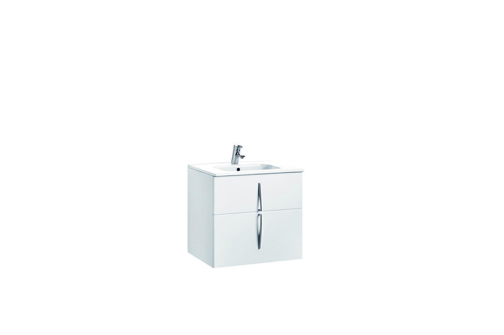 Mobilier 60 cm CUARZO 2C alb cu lavoar Smile GALA - Poza 3