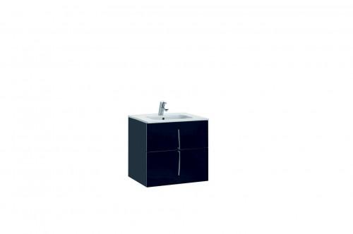 Mobilier 60 cm CUARZO 2C negru cu lavoar Smile GALA - Poza 5