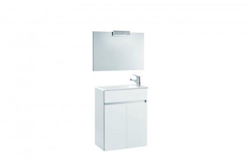 Mobilier 60 cm alb cu oglinda si spot - AMBAR GALA - Poza 4