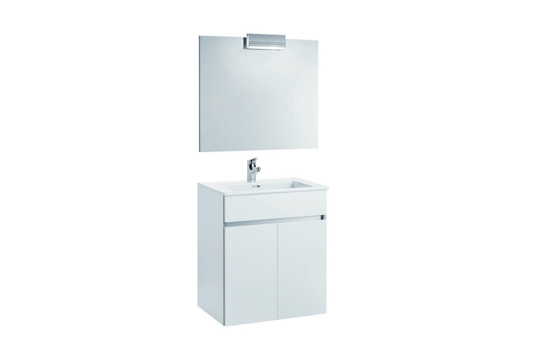 Mobilier 65 cm alb cu oglinda si spot - AMBAR GALA - Poza 8