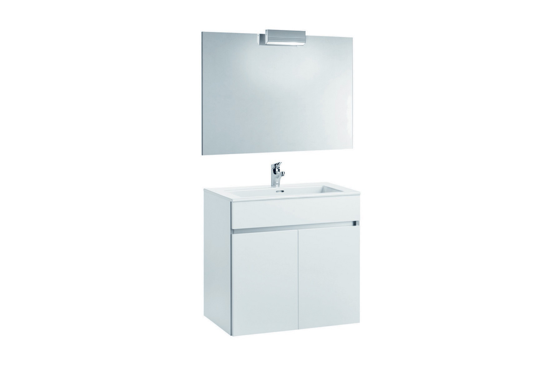 Mobilier 80 cm alb cu oglinda si spot - AMBAR GALA - Poza 12