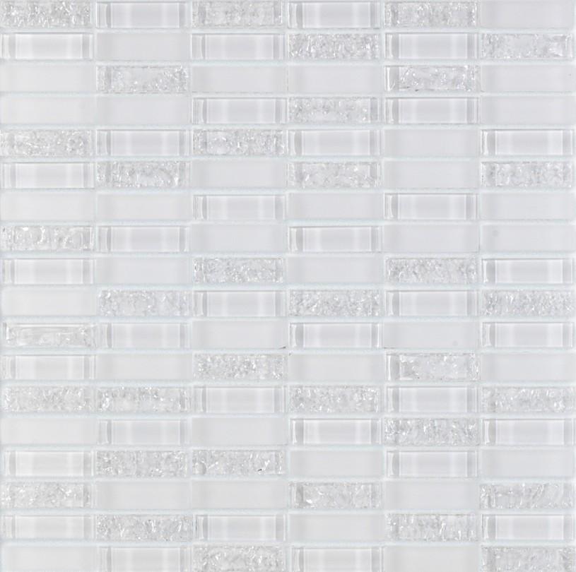 Mozaic pe plasa - Vidrio blanco 30x30 GALA - Poza 6