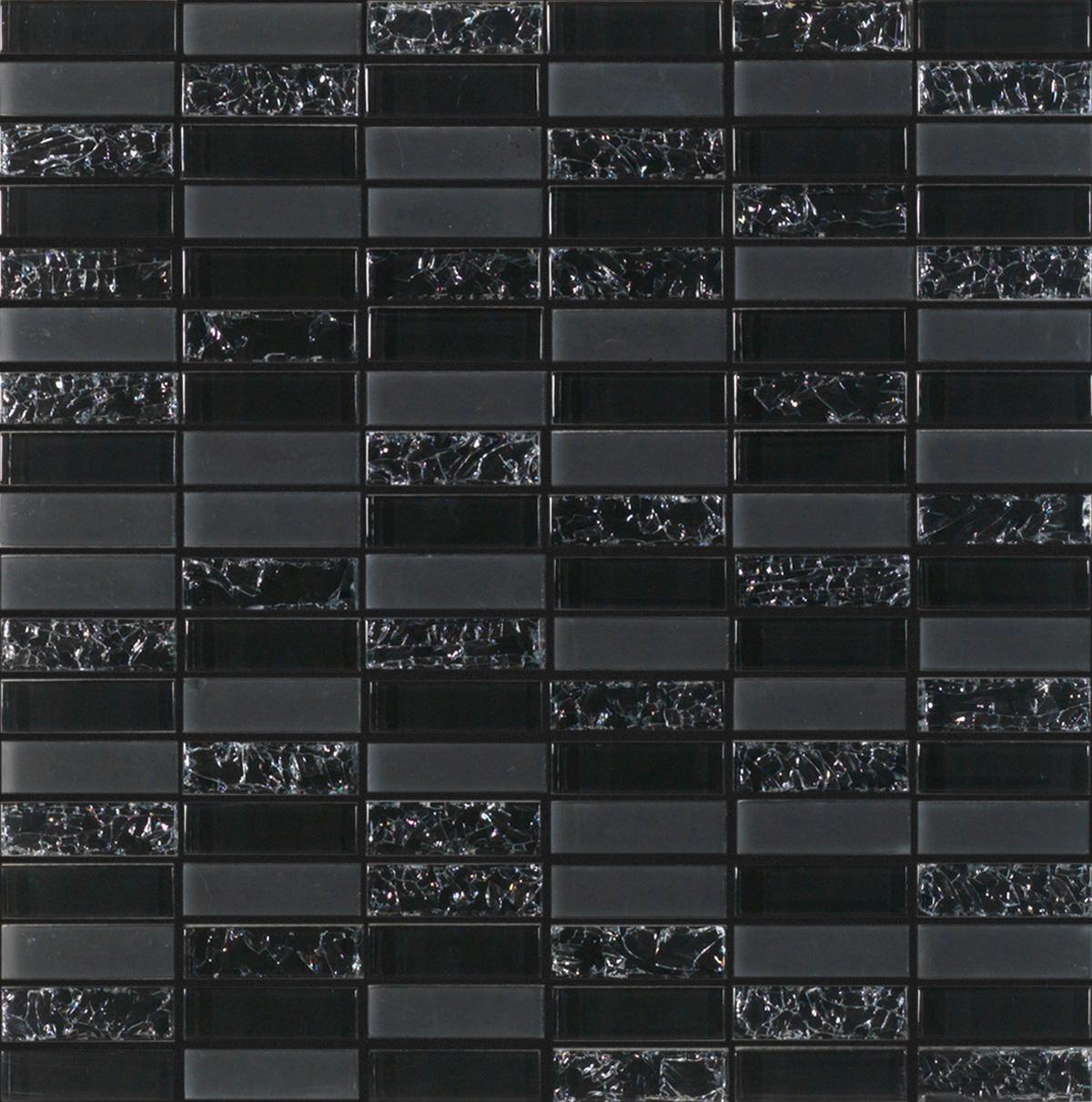Mozaic pe plasa - Vidrio negro 30x30 GALA - Poza 7