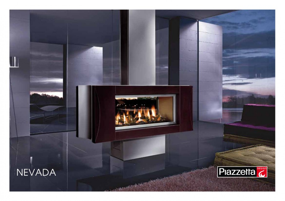 Pagina 1 - Semineu design Piazzetta Nevada Fisa tehnica Engleza NEVADA Gas or wood-burning...