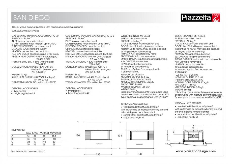 Pagina 2 - Semineu design Piazzetta San-Diego Fisa tehnica Engleza