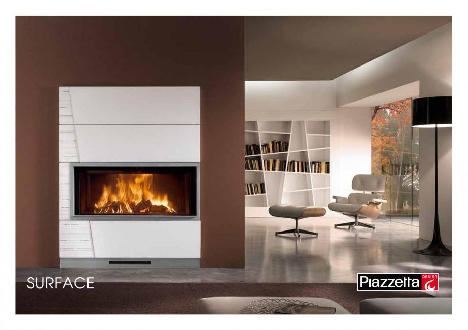 Pagina 1 - Semineu design Piazzetta Surface Fisa tehnica Engleza SURFACE Gas or wood-burning...