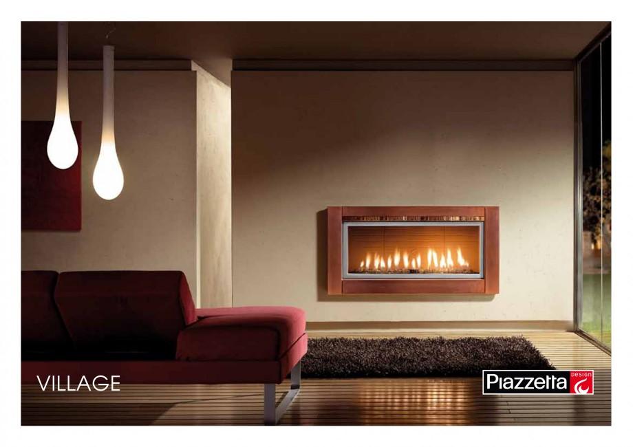 Pagina 1 - Semineu design Piazzetta Village Fisa tehnica Engleza VILLAGE Gas or wood-burning...
